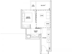 1 BEDROOM - TYPE A1 581SQFT