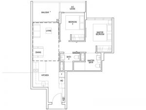 2 BEDROOM PREMIUM - TYPE BP1 721SQFT